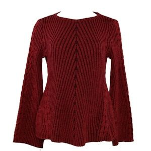 Style & Co Ribbed & Cable Fitted Sweater M NWT